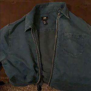 Denim zip up jacket
